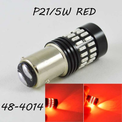 Светодиодная автомобильная лампа SLP LED с цоколем 1157(P21/5W)(BAY15D) 48-4014 9-30V Красный