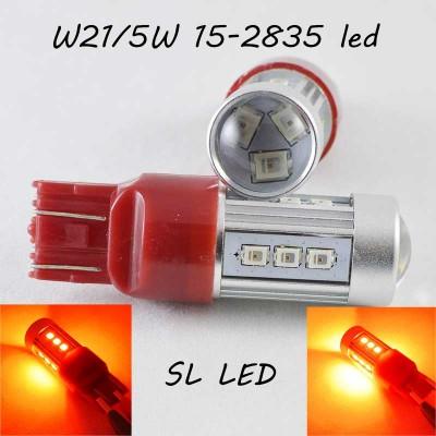 Светодиодная авто лампа SLP LED в задний фонарь с цоколем T20(W21W)(W21/5W) 15-2835 9-30V Красный