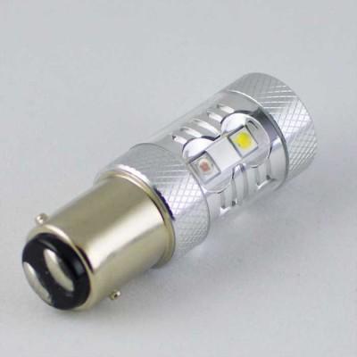 Светодиодная автомобильная лампа с цоколем 1157(P21/5W)(BAY15D) Osram 40W жёлтый/белый