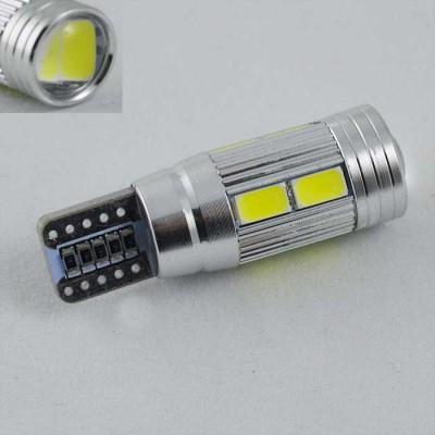 Светодиодная лампа в габарит SLS LED цоколь T10 (W5W) с обманкой,светодиоды 5630 12В. Линза