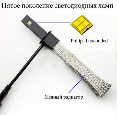 Комплект LED ламп в головной свет серия G5 цоколь Н1, Philips 20W Белый 6000K 3000 Люмен