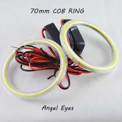 Светодиодные кольца (ангельские глазки) 70-62мм., COB с рассеивателями