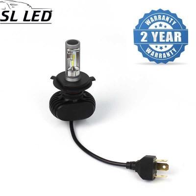 Установочный набор LED ламп в основные фонари SLP S1-LED Цоколь H4, 21W, 3250 Люмен/Комплект