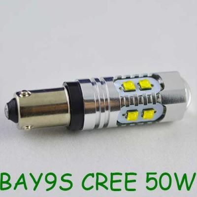 Мощная светодиодная лампа SLP LED с цоколем BAY9S (H21W) Cree 50W 9-30V Белый