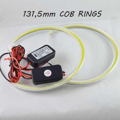 Светодиодные кольцаангельские глазки) 131.5-123.5 мм., срезанный верх, COB с рассеивателями