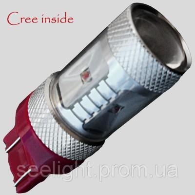 Автомобильная LED лампа в задний фонарь 7443 Cree 9-30V-NP-30W Красный