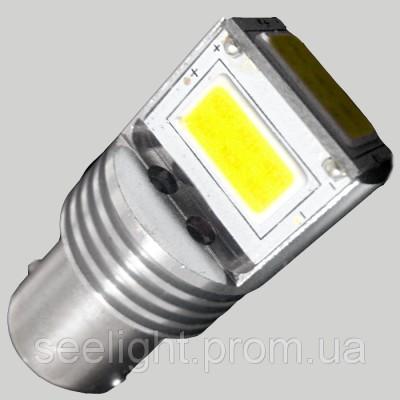 Светодиодная лампа в задний ход и ДХО с цоколем 1156(BA15S)(P21W) 9W-Белый