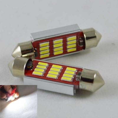 Автомобильная лампа SLS LED с обманкой в номера, салон, цоколь SV8,5(C10W) 39 mm 12-4014 Белый