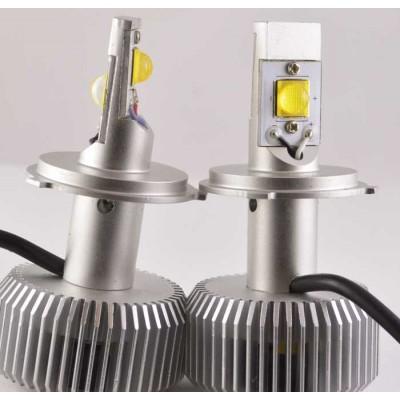 Комплект светодиодных ламп в основные фонари под цоколь Н4 30W 3000 Люмен лампа