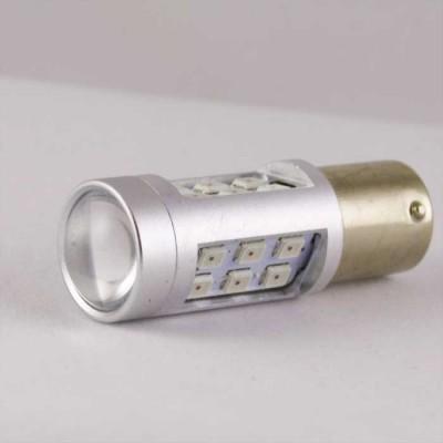 Светодиодная автомобильная лампа с цоколем 1156(P21W)(BA15S) 21-3535 9-30V-Красный