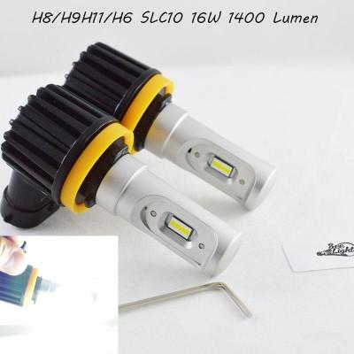 LED лампы в головной свет серии SLC10 Цоколь H11/H8/H9, 16W, 2400 Люмен/Комплект