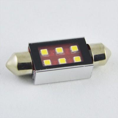 Светодиодная лампа SLS LED со встроенной обманкой бортового комп-ра SV8,5(C5W) 39mm samsung 6W Белый