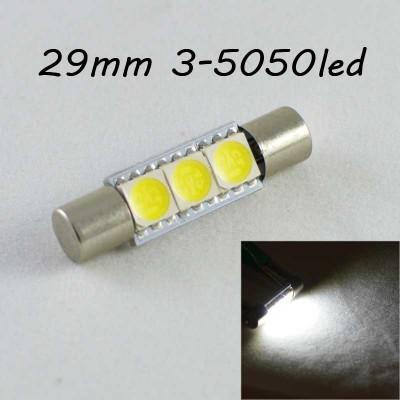 Led лампа SLP LED в солнцезащитные козырьки, зеркала SV7 (T6.3) (C5W)(C3W) 3-5050 28/29mm 12V Белый