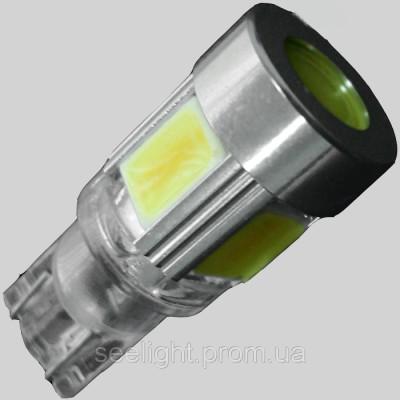 Светодиодная лампа на базе цоколя T10(W5W)(W2,1x9,5D) 9W COB 9-16V NP CW