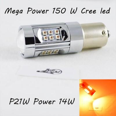 LED лампа SLP LED в задний фонарь автомобиля с цоколем 1156(BA15S,P21W) Cree 150W 9-30V 1400lm Красный