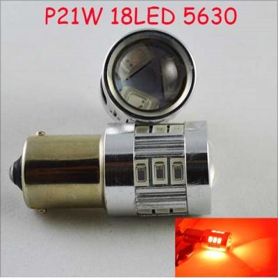 Светодиодная автомобильная лампа SLS LED с цоколем R5W, 1156, P21W, BA15S 18-5630 led 9-30V Красный