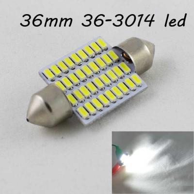 Светодиодная лампа SLS LED в  багажник и подсветку салона SV8,5(C10W) 36mm 36-3014 Белый
