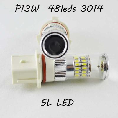 Автомобильная Led лампа SLP LED цоколь P13W (PSX26W) 48-3014 leds 9-30V дневные ходовые огни/ПТФ 6000К