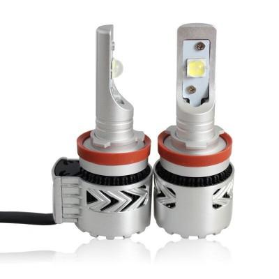 Комплект автомобильных ламп в головной свет, SLP G8L, Цоколь Н11, H8, H9, 36W, 6000 Люмен в линзу