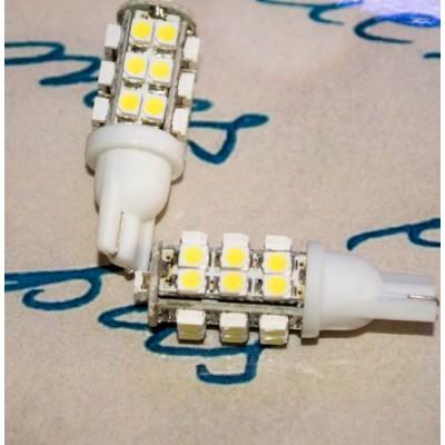 Светодиодная лампа в габарит с цоколем T10(W5W) 25-3528 Белый