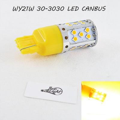 LED лампа в поворот WY21W(7440)(T20) SL30-3030 led Янтарный с обманкой