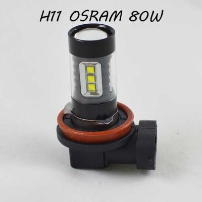 Светодиодная лампа в ПТФ Цоколь H11/H8/H9 SLP LED Osram 80W 9-30V 1050lm Белый 6000K