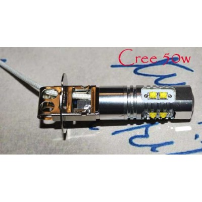 Светодиодная лампа в противотуманные фары H3-CREE50W-NW