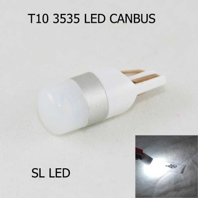 LED лампа в габарит SL LED, с обманкой, can bus, цоколь W5W(T10) Osram led 3030 12 В. Белый 6000K