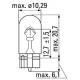 Светодиодная лампа с цоколем T10(W5W) 1W 5000K Линза