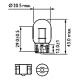 Светодиодная автолампа SLP LED в указатель поворота, цоколь T20(7443)(WY21W)(WY21W/5) R39-2835 9-30V Жёлтый