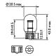 Лампа светодиодная Philips 7443/7440/T20 / W3x16d/ W21/5 RED 12V, 1шт/блистер